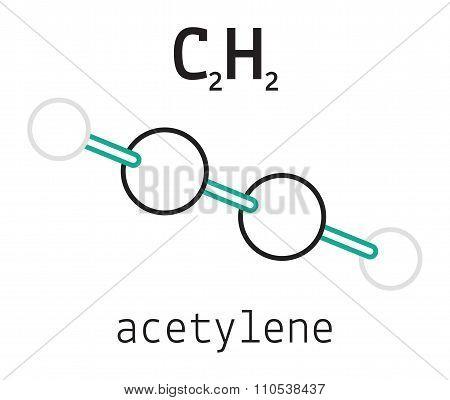 C2H2 acetylene molecule