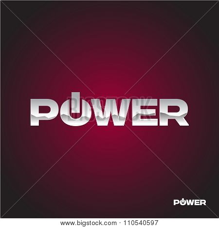 Power Text Logo