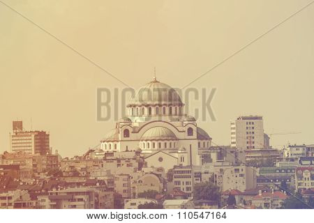 View of Belgrade, Serbia symbol.