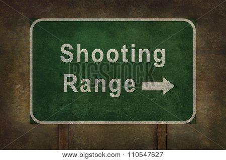 Shooting Range Directional Roadside Sign Illustratio