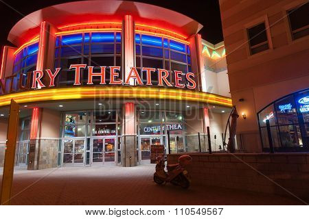 Brilliantly lit Century Theater Albuquerque.