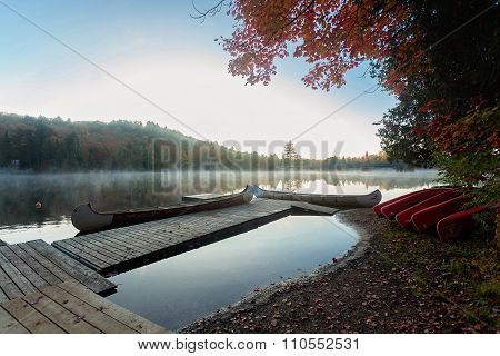 canoe in the lake of Algonquin Provincial Park, Ontario, Canada