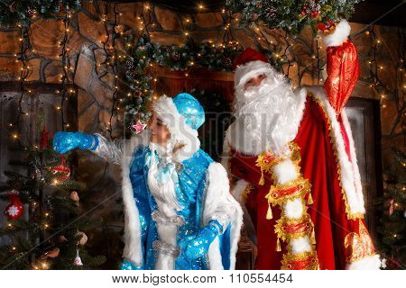 Christmas Scene In Russian Style