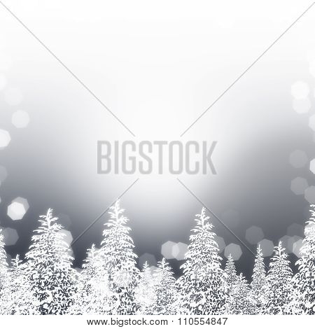 Silver Snowy Trees