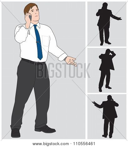 Businessman On Cell
