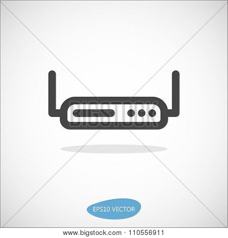 Simple Modem Router Icon
