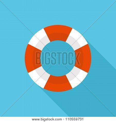 Lifebuoy icon, modern minimal flat design style. Vector illustration, lifebelt symbol