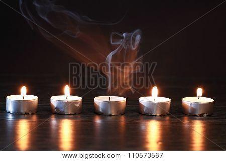 Candles On Dark