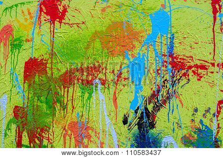 splashes of different colors on canvas celebrating Holi in India