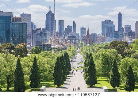 Melbourne skyline in daytime