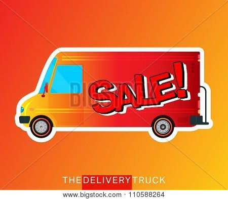 Sale bus isolated