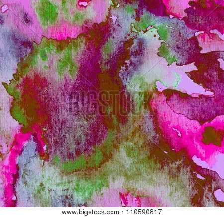 Watercolor Abstract Background Texture Of Handmade