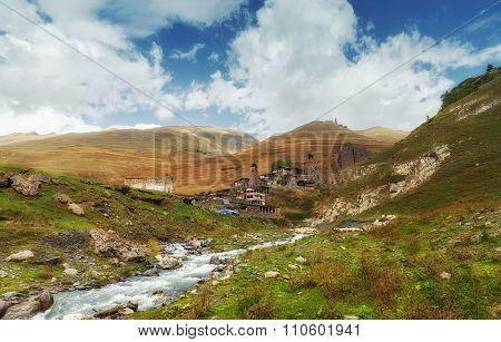 Tusheti National Park mountain village towers