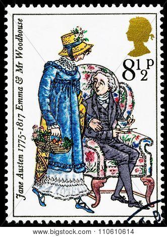 Britain Jane Austen Postage Stamp