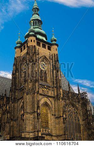 Metropolitan Cathedral of Saints Vitus Wenceslaus and Adalbert.Roman Catholic metropolitan cathedral in Prague the seat of the Archbishop of Prague. poster
