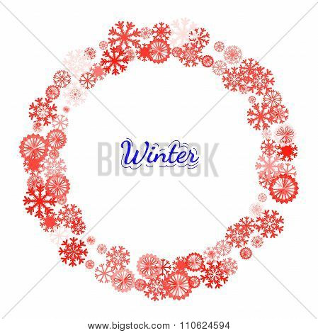 Christmas Banner With Snowflakes