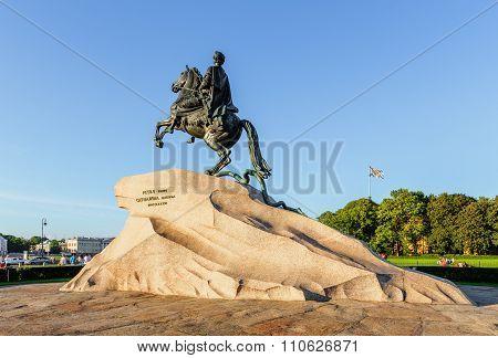 The Bronze Horseman In Saint Petersburg