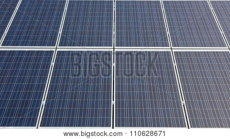 Some photovoltaic modules assembled in power set poster