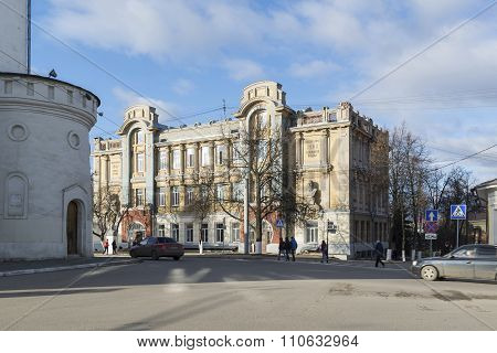 VLADIMIR, RUSSIA -05.11.2015. State Pedagogical University,  former Real School