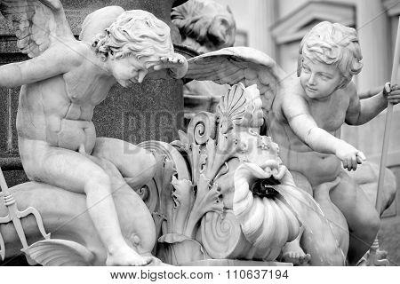 Pallas-athena-brunnen Fountain, Austrian Parliament In Vienna, Austria