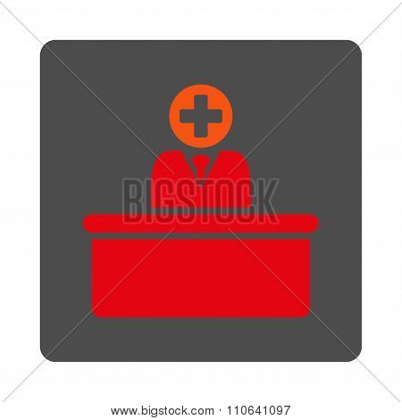 Medical Bureaucrat Flat Button