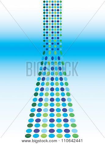 Blue Dot Matrix Flyer Background