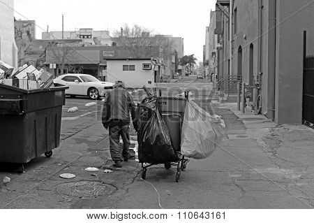 Homeless Man Walking