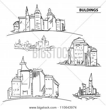 Set Buildings City  Vector & Photo (Free Trial) | Bigstock
