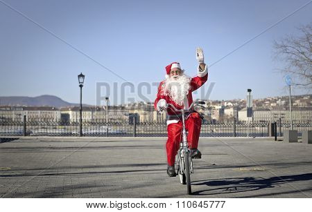 Santa's bike ride