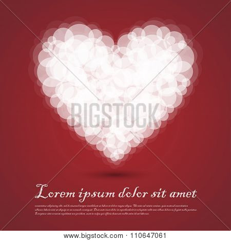 Heart Cluod Valentine Sentimental Red Abstract Background