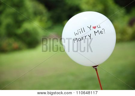 balloon on wedding
