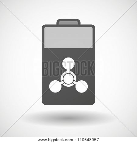 Isolated Battery Icon With A Chemical Weapon Sign