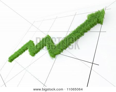 Shedule From Grass On White Isolated Background