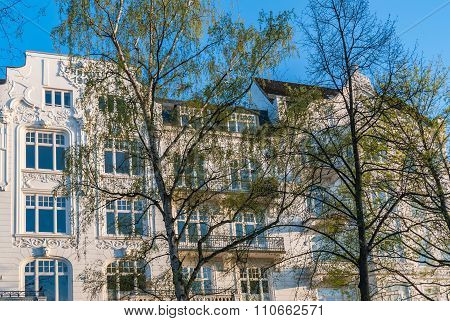 Typical Jugenstil style condominium in the Eppendorf quarter of the Free and Hanseatic City of Hamburg