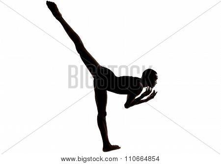 Silhouette of a Flexible Male Dancer