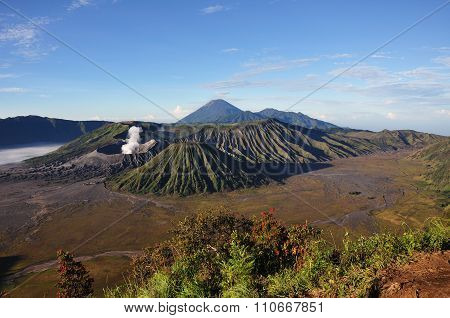 Mount Bromo In East Java, Indonesia.