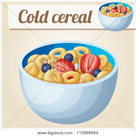 Cold cereal. Detailed Vector Icon