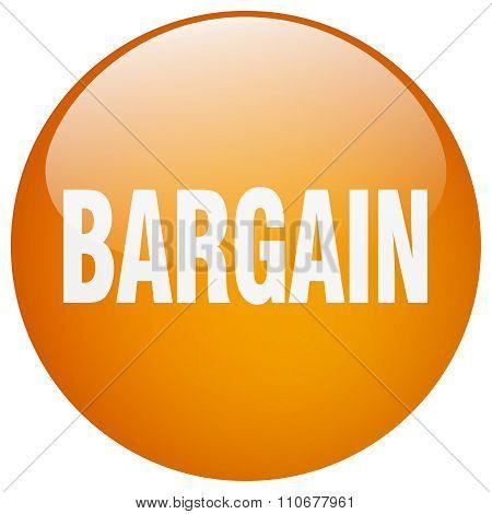 Bargain Orange Round Gel Isolated Push Button