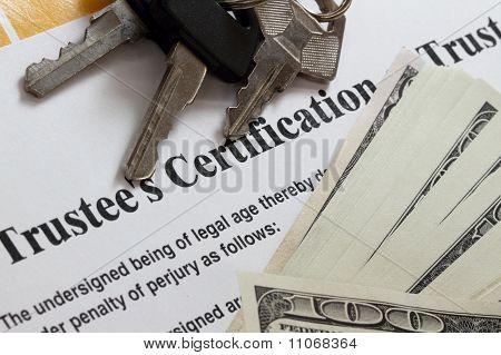 Trustee Certificate