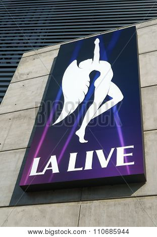 L.a. Live Marquee And Emblem