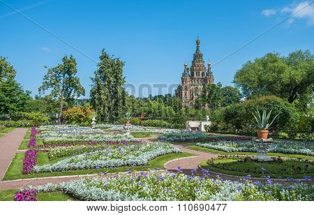Cathedral of Saints Peter and Paul in Petergof Saint Petersburg Russia poster