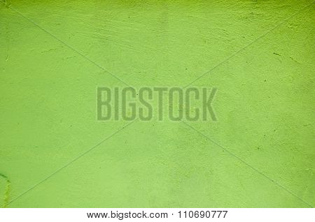 Concrete Wall Green Color For Texture Background