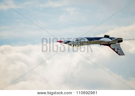 Inverted Thunderbird Over The Clouds