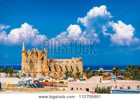 View of old town of Famagusta (Gazimagusa) Cyprus.
