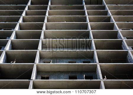 modern concrete structure, building under construction