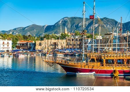 View Of Kyrenia Harbour. Cyprus