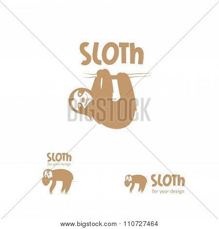 Cartoon Sloth  Logo.