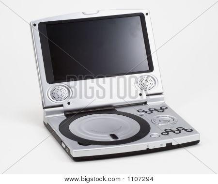 Reproductor de Dvd portátil de plata