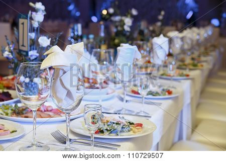 Served For A Banquet Table