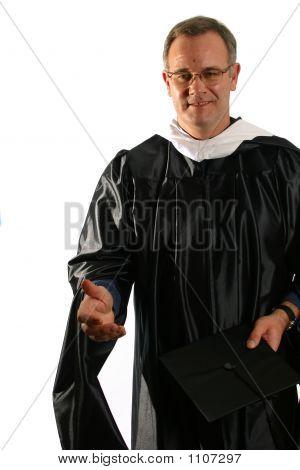 Professor Offering Hand